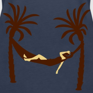 hengende mellom palmer / hanging between palm trees (2c) Topper - Premium singlet for kvinner