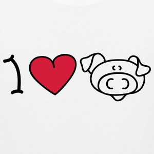 I love pigs T-Shirts - Männer Premium Tank Top