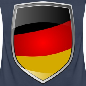 Shield with German Flag Tops - Frauen Premium Tank Top