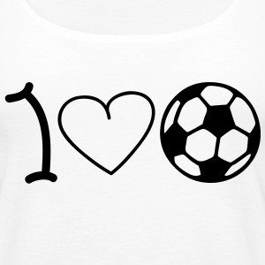 I love soccer Tops - Frauen Premium Tank Top