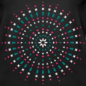 A mandala made ​​of sand with small shells and star shapes Tops - Women's Premium Tank Top
