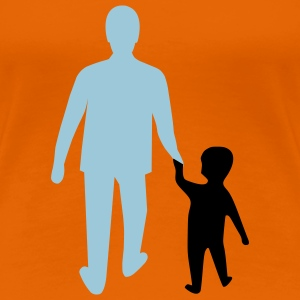 missing father and son T-shirts - Dame premium T-shirt