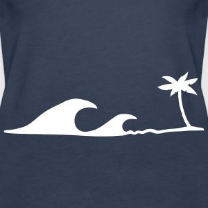 Waves on the Beach, Wellen am Strand unter Palmen Tops - Frauen Premium Tank Top