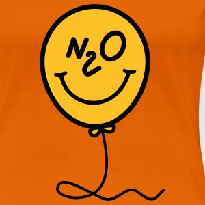 Lattergas - ballon - smiley T-shirts - Dame premium T-shirt
