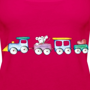 Cute little train Topy - Tank top damski Premium