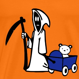Grim Reaper, Grim Reaper with bear carts T-Shirts - Men's Premium T-Shirt