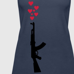 AK47 anti-krig tema. Topper - Premium singlet for kvinner