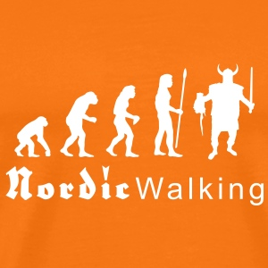 evolution_nordicwalking1 T-shirts - Mannen Premium T-shirt