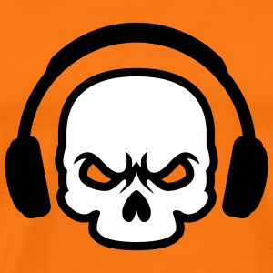 Headphone Skull | Death Sound T-Shirts - Men's Premium T-Shirt