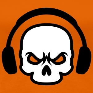 Headphone Skull | Death Sound T-Shirts - Vrouwen Premium T-shirt