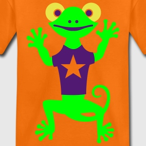DANCING GECKO mit Stern - T-Shirt | Kindershirt - Teenager Premium T-Shirt