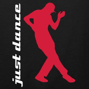 Just dance - dancing man T-Shirts black - Men's Premium Tank Top
