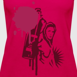 Graffiti sprayer mit Sprühdose im Graffiti Stil  Tops - Frauen Premium Tank Top