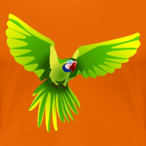 Ara fliegt grün - flying green Ara T-Shirts - Frauen Premium T-Shirt