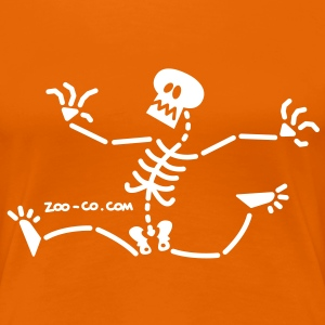 Skeleton Running Away T-Shirts - Women's Premium T-Shirt