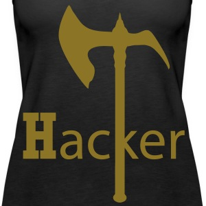 Axe Hack and Slay ax, hoes  gamer nerd columns broken code Tops - Women's Premium Tank Top
