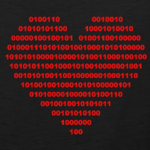 I LOVE - Binary heart - digital  T-Shirts - Men's Premium Tank Top