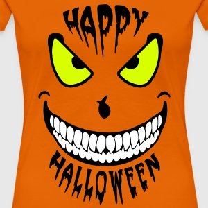 Halloween Happy Smile (3c) Tee shirts - Women's Premium T-Shirt