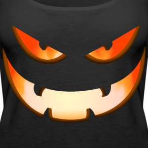 Black Halloween mask Tops - Women's Premium Tank Top