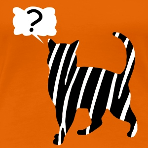 Zebra chat animal mythique, l'enchantement très discutable Tee shirts - T-shirt Premium Femme