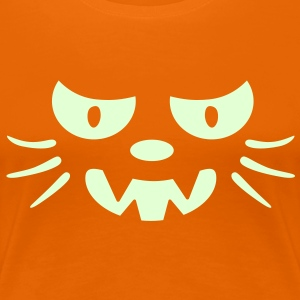 Frosby Night Cat Womens Glow T-shirt - Women's Premium T-Shirt