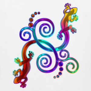 Spiral Tail Gecko Twins - colored | Männershirt ärmellos - Männer Premium Tank Top