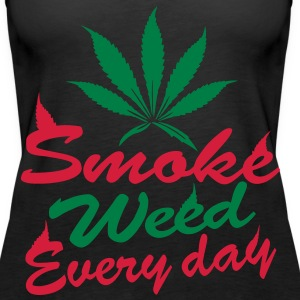 smoke weed every day Top - Canotta premium da donna