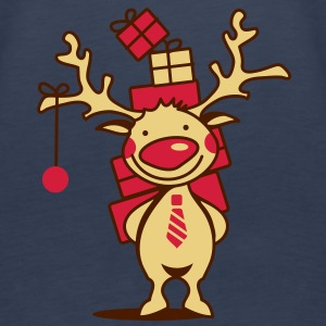 A reindeer with gifts Tops - Women's Premium Tank Top