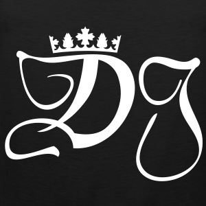 DJ-disc jockey monogram with crown T-Shirts - Men's Premium Tank Top