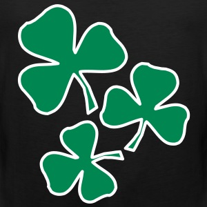 2 colors - Kleeblatt Irland Sankt Patricks Day Shamrock Ireland Saint T-shirts - Mannen Premium tank top