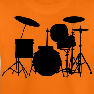 music drums drum set Kids' Shirts - Teenage Premium T-Shirt