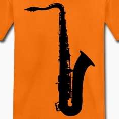 music saxophone brass Kids' Shirts