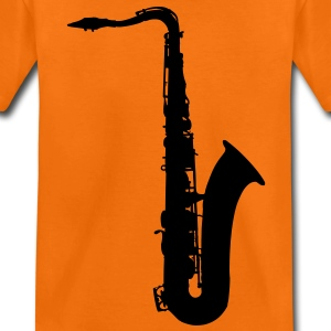 music saxophone brass Kids' Shirts - Teenage Premium T-Shirt