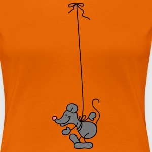 The Mouse hangs around T-shirts - Dame premium T-shirt
