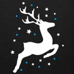 leaping reindeer T-Shirts - Men's Premium Tank Top
