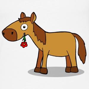 Pferd mit Blume - Comic Tops - Frauen Premium Tank Top