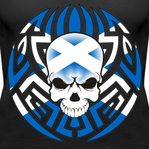 Tribal Scottish Skull - Women's Premium Tank Top