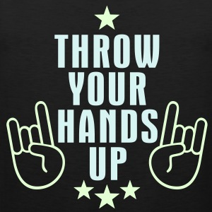 MANO CORNUTA - THROW YOUR HANDS UP | Männershirt ärmellos - Männer Premium Tank Top
