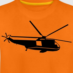 helicopter kids military rc Børne T-shirts - Teenager premium T-shirt