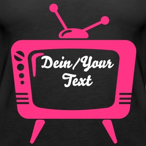 TV - Your Text - telly Tops - Women's Premium Tank Top