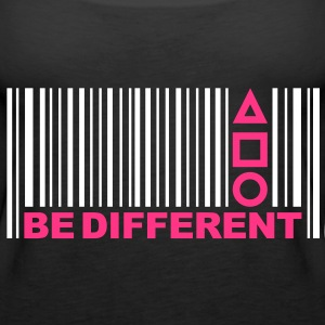 Be Different - Barcode - Simboli - Codice a barre Top - Canotta premium da donna