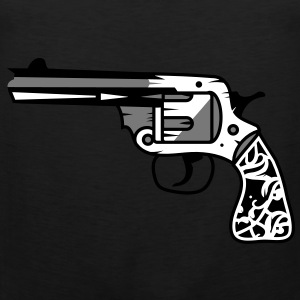 old revolver with ornamental decorations on the grip T-Shirts - Men's Premium Tank Top