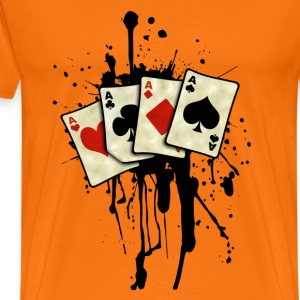 poker cards design Tee shirts - T-shirt Premium Homme