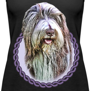 Bearded Collie 001 Tops - Women's Premium Tank Top