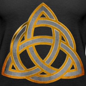 CELTIC KNOT - silver gold antique | Frauen Tank Top - Frauen Premium Tank Top
