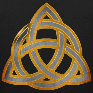 CELTIC KNOT - silver gold antique | Männershirt ärmellos - Männer Premium Tank Top