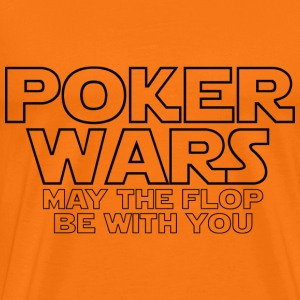 Pokerwars: may the flop be with you T-shirts - Mannen Premium T-shirt