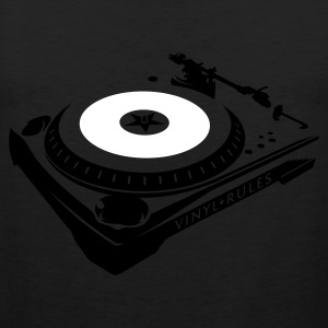 VINYL RULES TURNTABLE T-Shirts - Männer Premium Tank Top