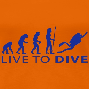 evolution_dive T-skjorter - Premium T-skjorte for kvinner