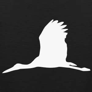 storch baby schwangerschaft vogel fliegen pregnancy baby stork flying bird T-Shirts - Männer Premium Tank Top